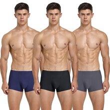 3 PCS/Lot  Seamless Men Boxers Luxury Silk Antibacterial Boxers Underwear Boxer Spandex 3D Crotch Boxer Nylon Underwear Shorts