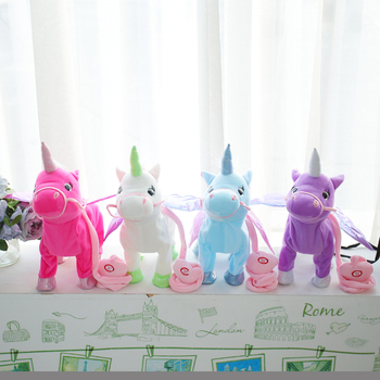 VIP Link Walking Unicorn Plush Toy Stuffed Animal Soft Toy Electronic Music Toy For Children Christmas