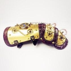 Gear Duke, винтажные механические аксессуары для косплея на Хэллоуин, высокое качество, стимпанк, кожа, LED Arm, теплые аксессуары, реквизит для веч...
