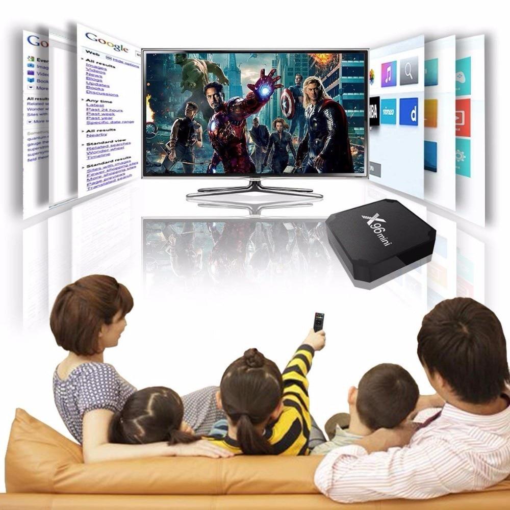 X96 mini tv box WiFi android 7.1 4 K 2 GB 16 GB Amlogic 1 GB 8 GB S905W tvbox Quad core WiFi Media Player smart Set-top X96mini