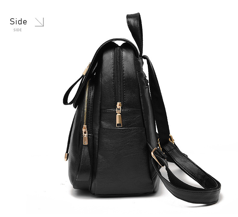 HTB1fZgOao rK1Rjy0Fcq6zEvVXaX LIKETHIS Backpack In Women's Casual PU Leather Knapsack Travel Mochila Escolar Masculina Backpack Zainetto Donna Lady Solid New