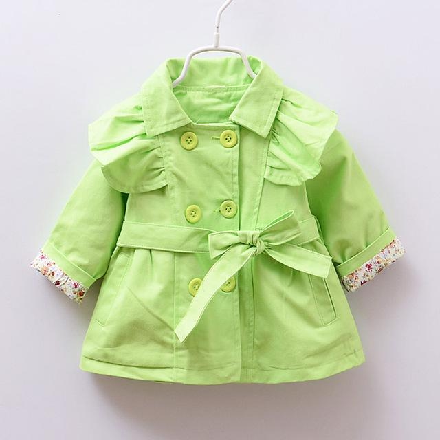Jaqueta rosa Bebê jaqueta e casaco Crianças Outerwear bebê meninas infantis outono inverno roupas casaco com capuz cardigan trench coat Arco