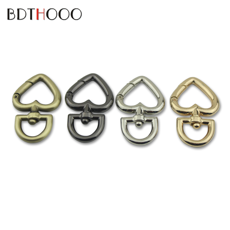 BDTHOOO 10pcs Swivel Snap Hook Buckle for Bag Accessories Chain Purse Frame Handle Rope Clasp Strap Hook Metal Bag Holder Hooks high quality metal hook bag strap buckle bag hardware chain clasp bag handle hook connect buckle bag strap clasp