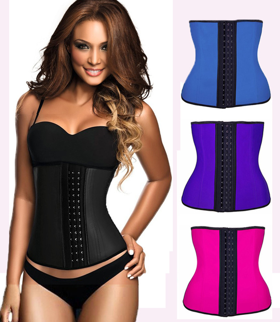 4580b6b05b 9pcs Steel Bone Waist Shaper Corset Waist Trainer Latex Shapewear Corset  Women Waist Cincher Slimming Belt