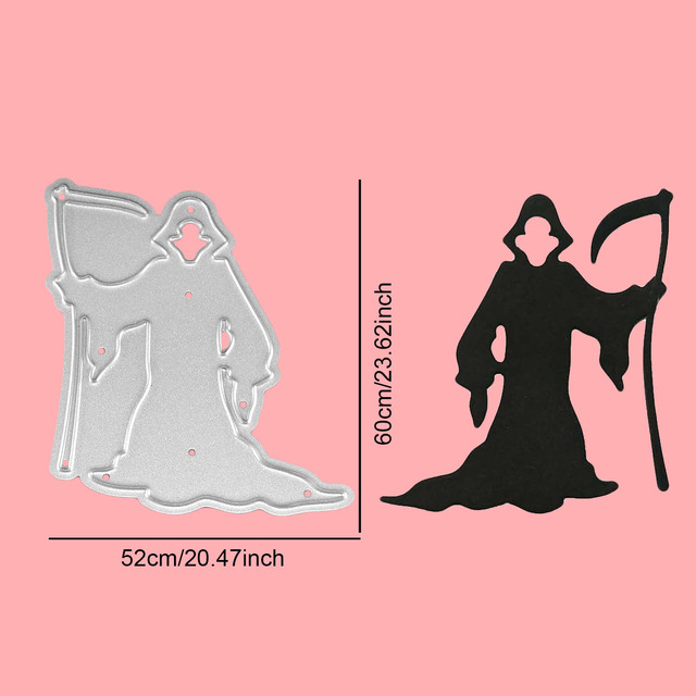 Halloween Death God Embossing Cutting Dies Stencils Templates Mould