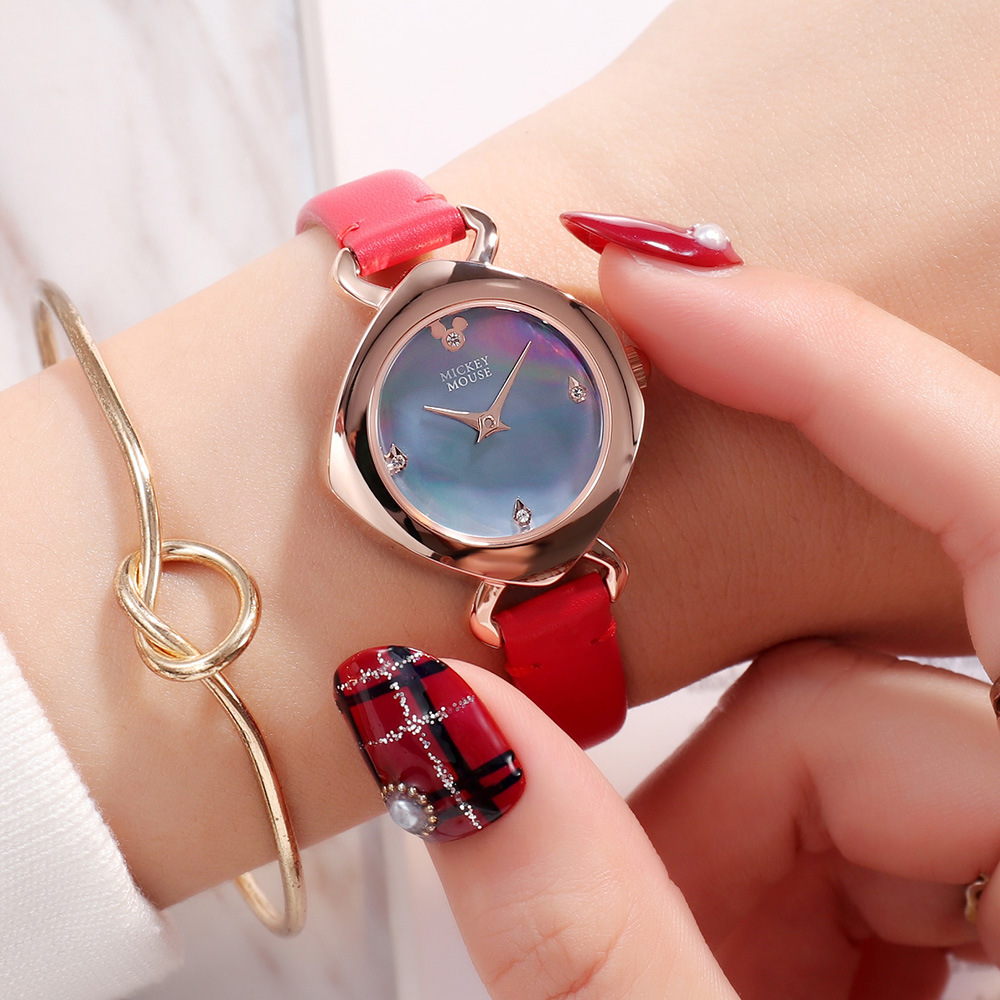 Children's Watches Disney Cartoon Children Watches Girls Quartz Watch Top Brand Frozen Pu Leather Watchband Fashion Girls Frozen Watch Dropshipping In Short Supply