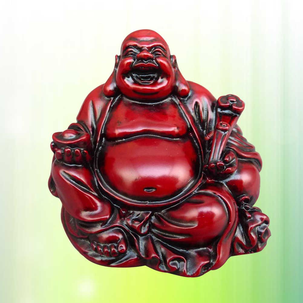 เรซิ่นหัวเราะพระพุทธรูป Figurine เครื่องประดับ Fengshui รูปปั้นพระพุทธรูป Maitreya ประติมากรรมหัตถกรรมตกแต่ง Desktop Decor
