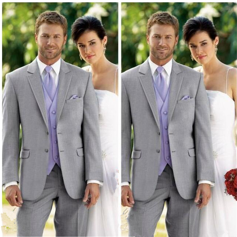 2018 New Design Men Wedding Suits Groom Formal Suit Two Buttons Burgundy Tuxedo Jacket Men Suit 3 Pieces Costume Homme