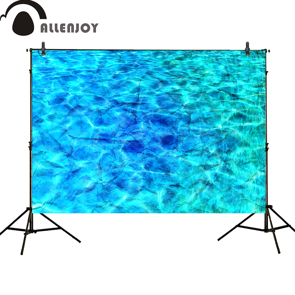 Allenjoy photography backdrops party ocean summer beach swimming pool water ripple Birthday banner baby shower photocall