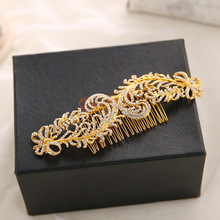 Dower me Generous Rhinestone Wedding Tiara Gold Bridal Hair Comb Jewelry Women Prom Headpiece Accessories