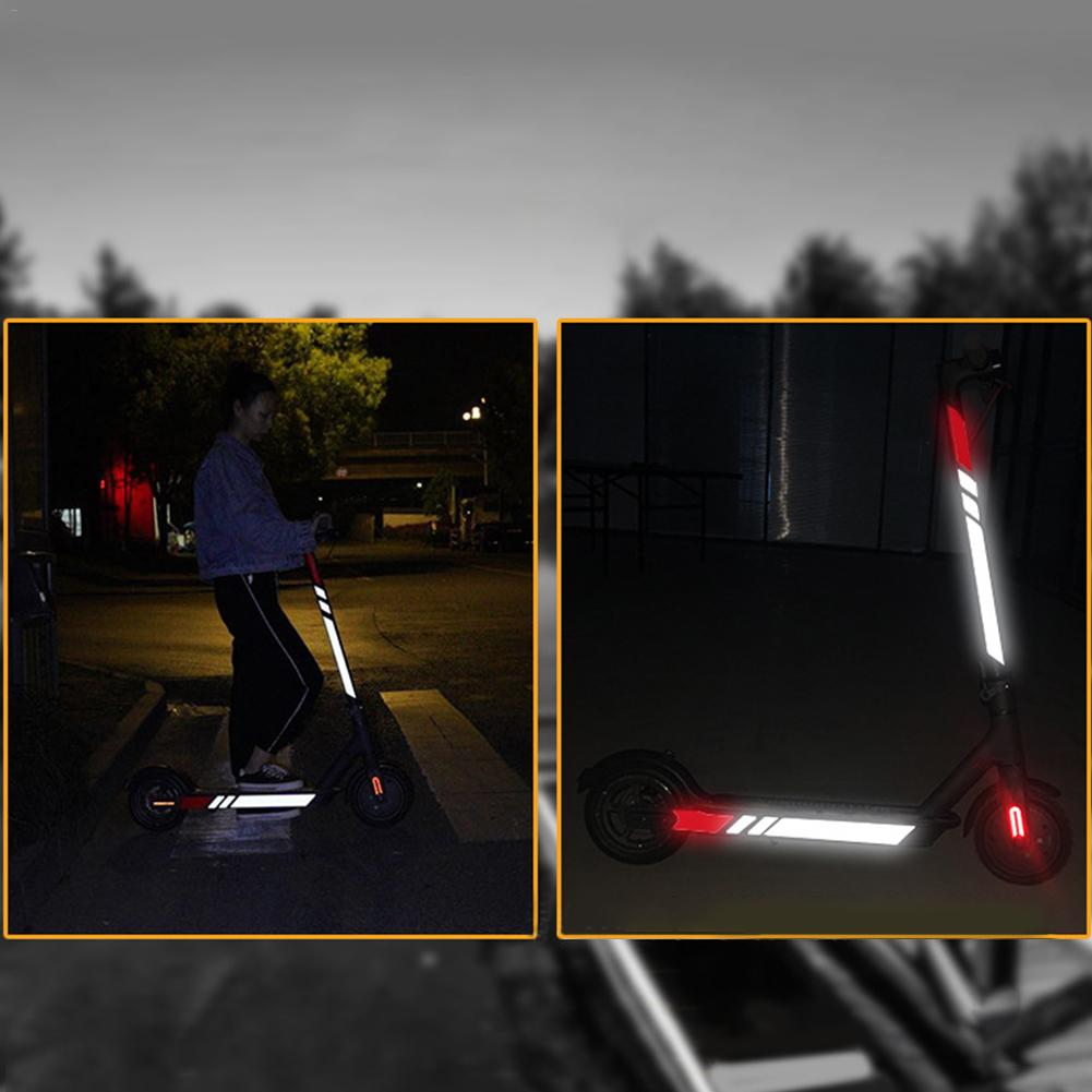 Image 2 - New Night Reflective Sticker For Xiaomi M365 Electric Scooter Accessories Reflective Sticker Waterproof Side Safety Sticker-in Skate Board from Sports & Entertainment