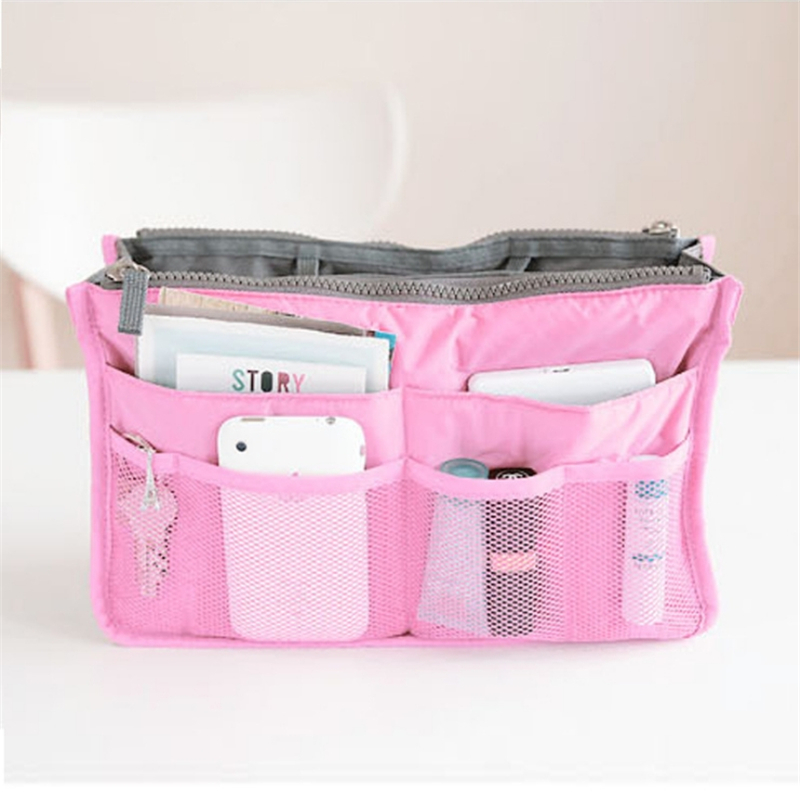 Women's Cosmetic Bag Travel Insert Organizer Toiletry Make Up Case Ladies Wash Storage Bag Portable Beauty Pouch Female Tote