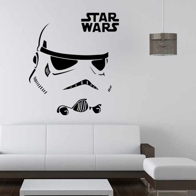 Star war carved wall stickers original zooyoo creative art home decorations bedroom background wallpaper