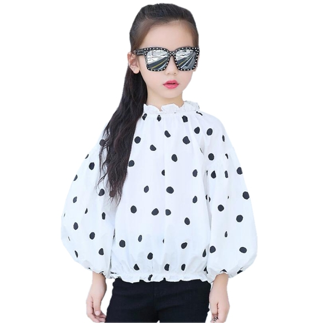 777ed9291 € 7.14 40% de DESCUENTO|2019 primavera otoño princesa niña blusa niños  camisas de manga larga punto bebé niño adolescentes niñas Tops y blusas ...
