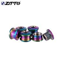 ZTTO 5PCS Titanium Chainring Bolt Bicycle Chainwheel Screws Road bike MTB Bicycle Disc Screws for Crankset Bicycle Parts