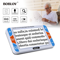 BOBLOV RS500S 3X 48X Portable 5 LCD Video Digital Magnifier Reading Aid 800X480 For Low Vision
