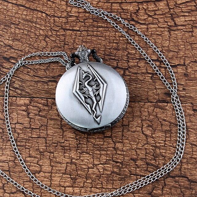 Уникальные серебряные карманные часы  Skyrim -