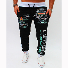 5 color 2017 new style trousers men's Urban fashion letters printing leisure pants casual pencil pants men fitness clothing XXL