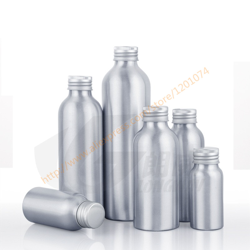 30ml 50ml 100ml 120ml 150ml aluminum bottle with aluminum lid essential oil liquid moisturizer facial water