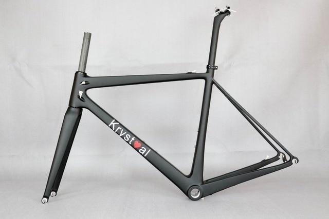 700C Road Bike Carbon Fiber Stiff Racing Bicycle Frame , accept ...