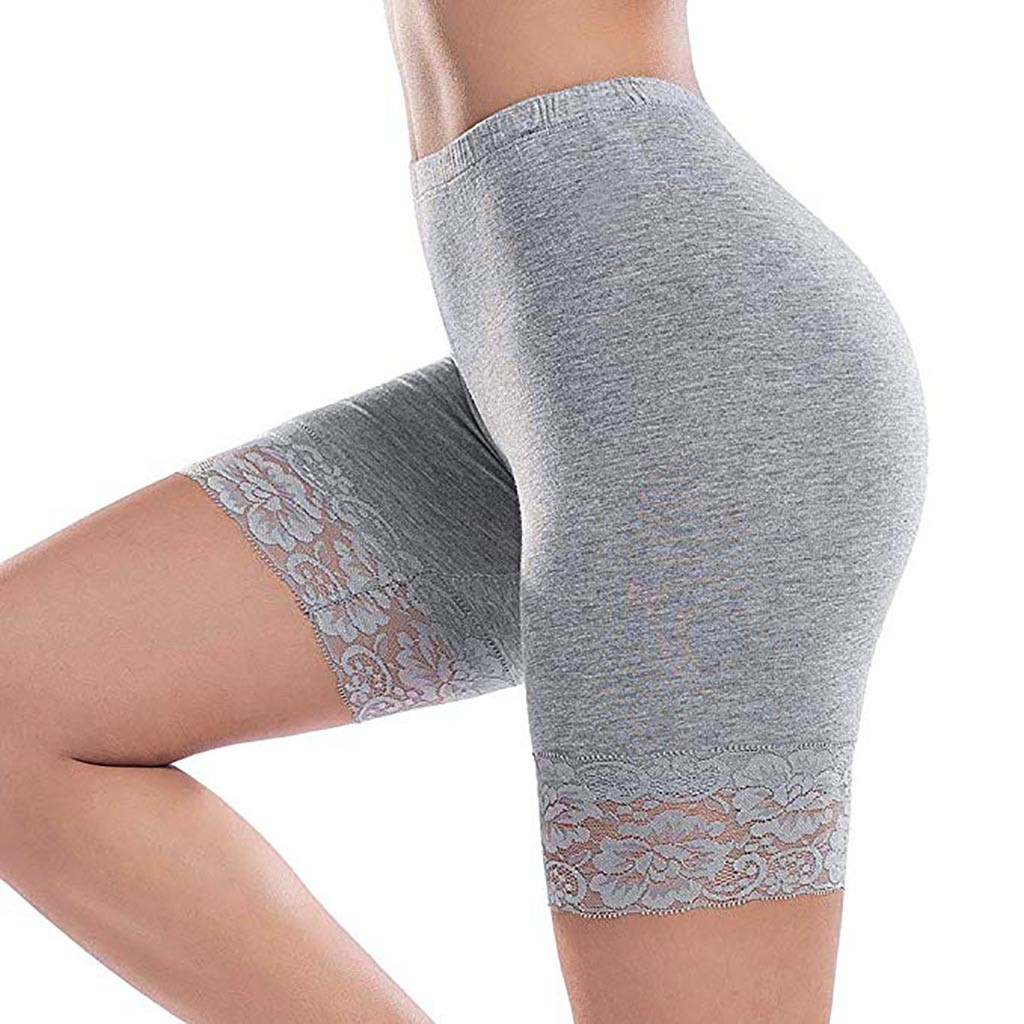 Hot Ladies Sport   Shorts   Women Fitness Plus Size Lace Hot   Shorts   Elastic Sports   Short   Pants Elastic Waist   Shorts   Spodenki Damskie