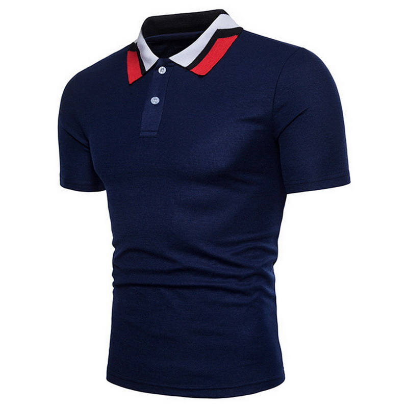 Laamei New 2019 European Large Size Men's Summer Lapel Short-sleeved   Polo   Shire Solid Color Cotton Fashion Casual   Polo   Shirt