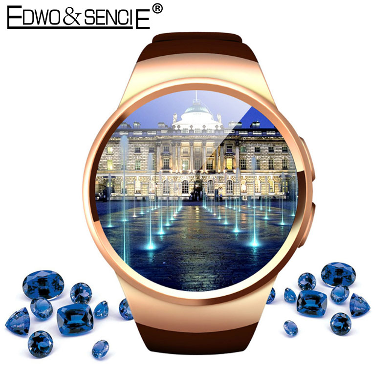 ФОТО EDWO KW18 Bluetooth Smart Watch Clock Heart Rate Monitor Support SIM Card Pedometer Smartwatch For iPhone Samsung Android Phone
