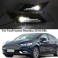СВЕТОДИОДНЫЙ DRL противотуманная лампа фары Дневные ходовые огни для Ford Fusion Mondeo 2018