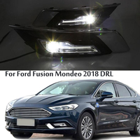 LED DRL Fog Lamp Driving Lights Daytime Running Lights For Ford Fusion Mondeo 2018