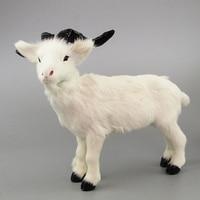 large 26x21cm white sheep toy plastic& furs simulation goat model home decoration Xmas gift w5807