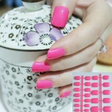 Pink 24 Pcs Fake nails