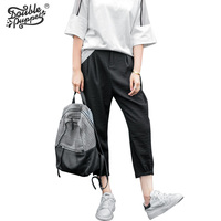 Double Puppet Women S Pants Loose Casual Trousers Wide Legs Ankle Length 2017 New Summer Fashion