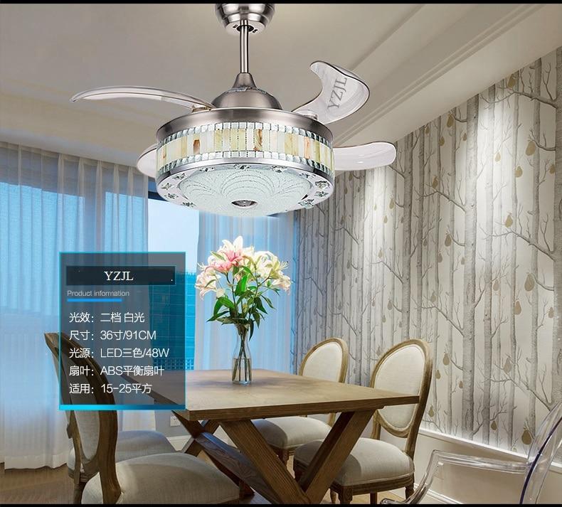 Stealth Fan Lamp Living Room Dining Bedroom Ceiling Chandelier Lights Home LED
