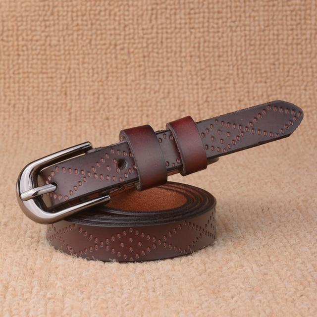 Leather Belt with Sprocket Holes