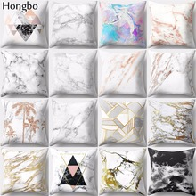 Hongbo 1 Pcs Geometric Marble Texture Throw Pillow Case Cushion Cover Sofa Home Decor Decorative Pillows For Sofa Seat Car Chair цены