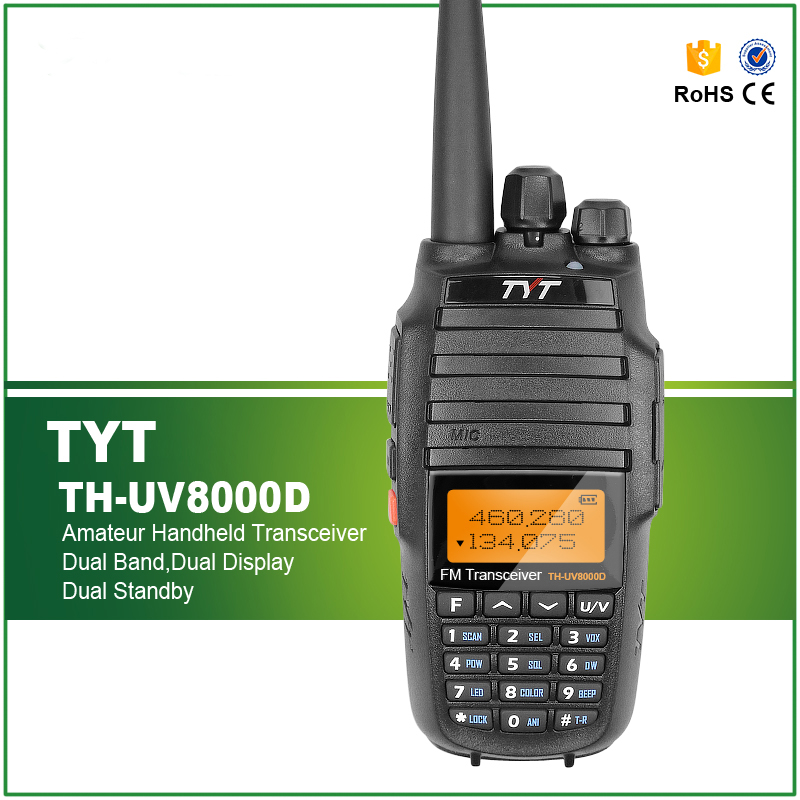 Original TYT TH 8000D Upgraded Version 3600Mah Li ion Battery 10W VHF UHF Cross Band Walkie