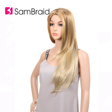 Sambraid Long Silky Straight Ombre synthetic hair wig for 24 inch hair for women wig цена в Москве и Питере