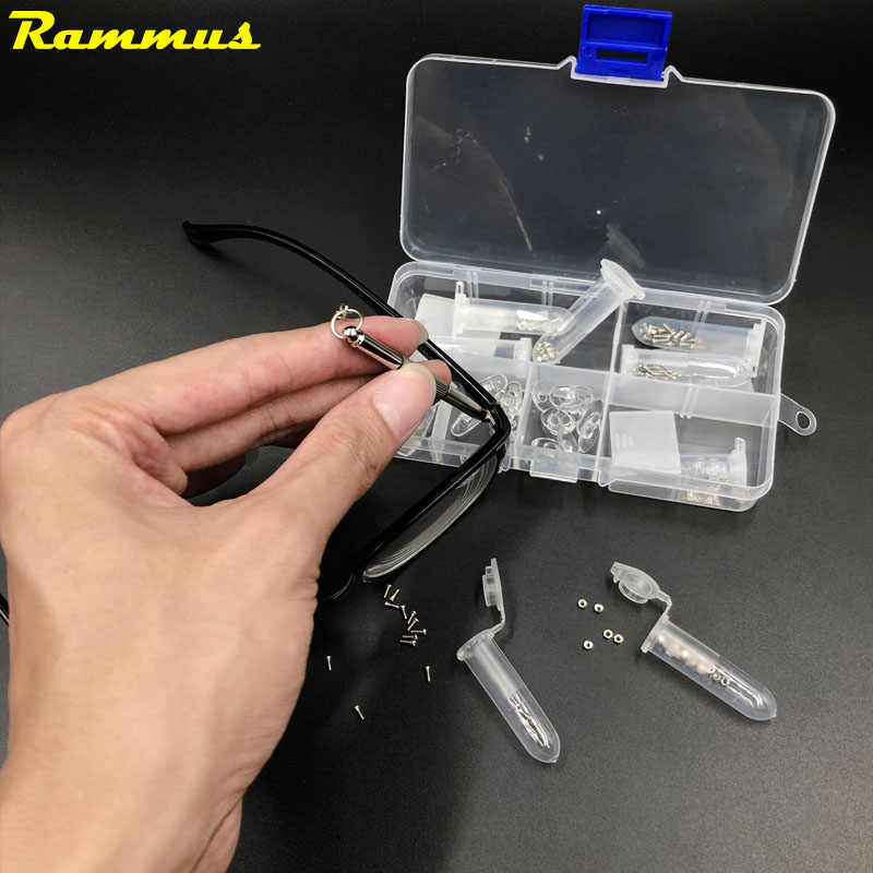 Stainless Steel Micro Glasses Sunglass Screws Nuts Accessories Screwdriver Set Glasses Repair Tool Silicone Ear Pads Nose Pads