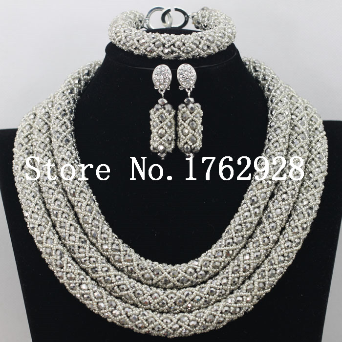 Latest Nigerian Beads Necklace Bridal Jewelry Sets African Wedding ...