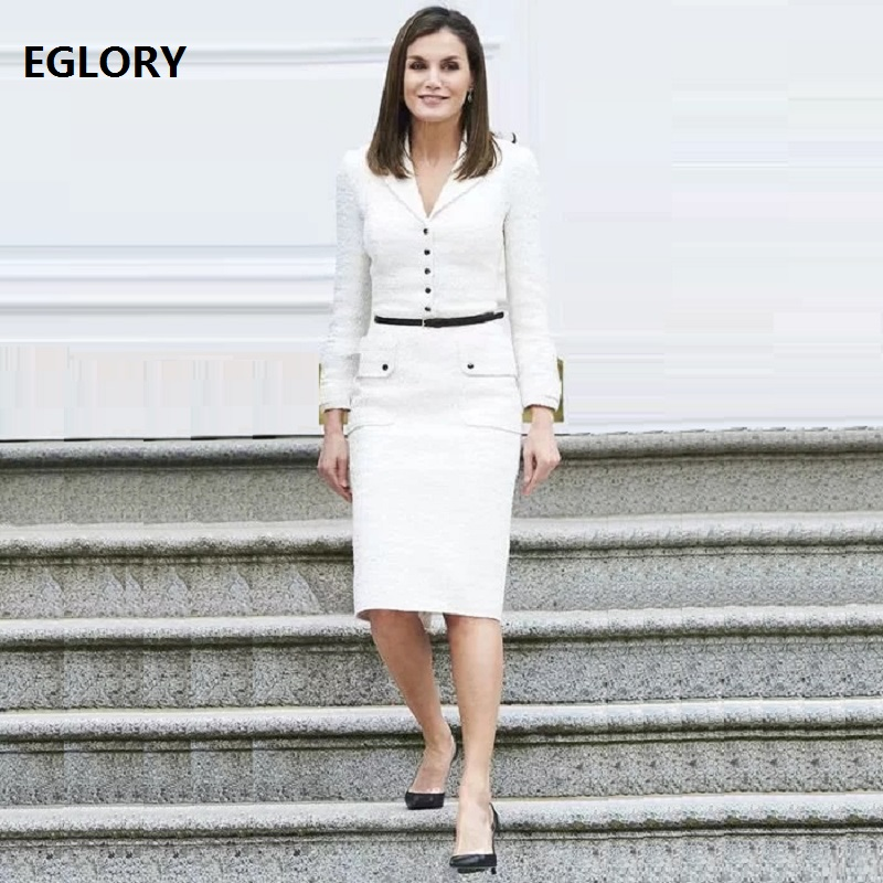 Princess Kate Women's Dress New 2018 Autumn Winter Wool Dress Women Notched Collar Covered Button Slim Fit Party Elegant Dresses