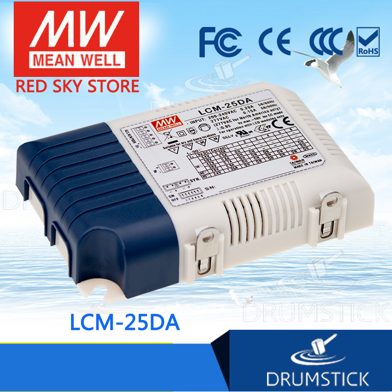 Hot sale MEAN WELL LCM-25DA 24V 1050mA meanwell LCM-25DA 25.2W Multiple-Stage Output Current LED Power Supply
