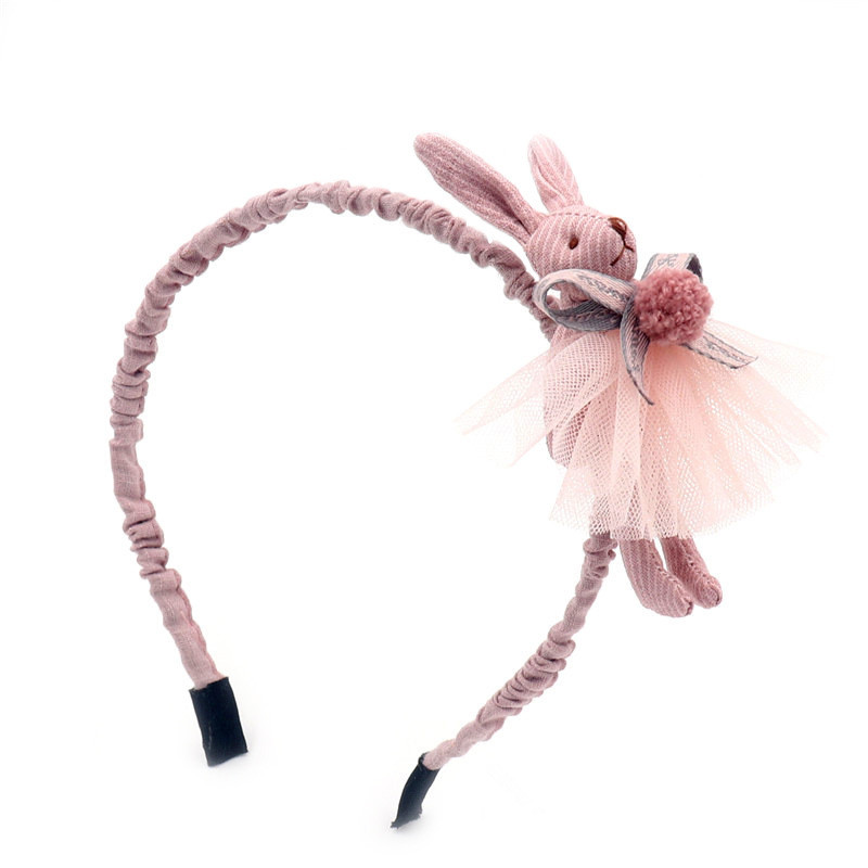 New Ladies Headbands Cute Material Bunny Hairband Youngsters Hairball Bow Head Hoop Hair Band Pretty Kids Hair Equipment Headdress