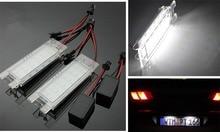 Free shipping,2x Error Free White LED License Plate Light For Alfa Romeo 147 156 159 166 Brera Spider GT Mito