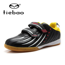 TIEBAO Professional Indoor Soccer Shoes Children Kids Teenagers Football Boots IN & IC Rubber Soles Training Sneakers EU 30-38