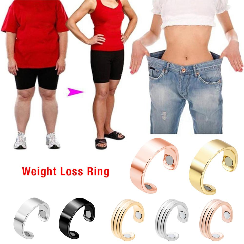 Slimming Finger Ring Micro Magnetic Weight Loss Ring Fat Burning Slimming Finger Ring Stimulating Acupoints Fitness Health Care