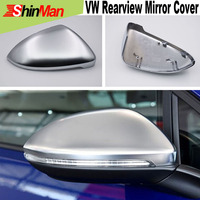2x Electroplate Matte Rearview mirror cover For VW golf mark 7 2013 2016 Car mirror case rearview mirror cover freeshipping