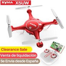 SYMA الرسمية Drone المهنية X5UW RC الطائرة بدون طيار مع كاميرا HD Wifi FPV RC هليكوبتر طائرات بدون طيار Dron Quadcopter كاميرا سيلفي طائرة
