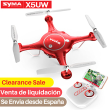SYMA официальный Дрон Профессиональный X5UW RC Дрон с камерой HD Wifi FPV RC вертолет дроны Дрон Квадрокоптер для селфи, Дрон