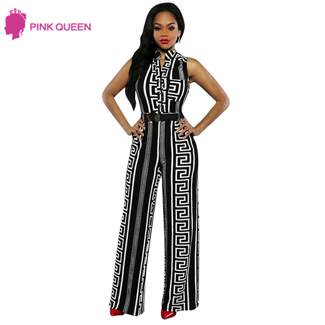 76235d8623d Pink Queen Rompers Womens Jumpsuit Plus Size Cut Pants Rayon New Fashion  Black Milk Silk Ladies Wide Leg Jumpsuit with Belt