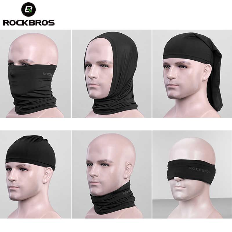 ROCKBROS летние велосипедные головные уборы анти-пот дышащие велосипедные шапочки бег велосипед бандана спортивный шарф-Маска на лицо для мужчин и женщин